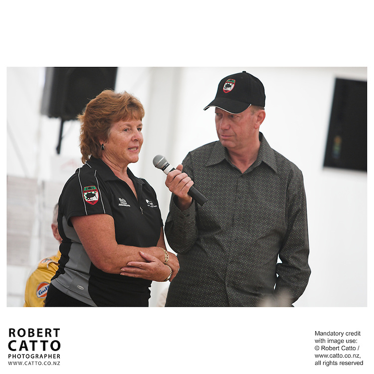 Anita Hulme;Michael Garlick at the Launch of the Bruce McLaren Movie project at the A1 Grand Prix of New Zealand at the Taupo Motorsport Park, Taupo, New Zealand.