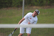 Lafayette's Jacob Roberts vs. Mooreville in tennis action at Ole Miss in Oxford, Miss. on Wednesday, March 23, 2011.