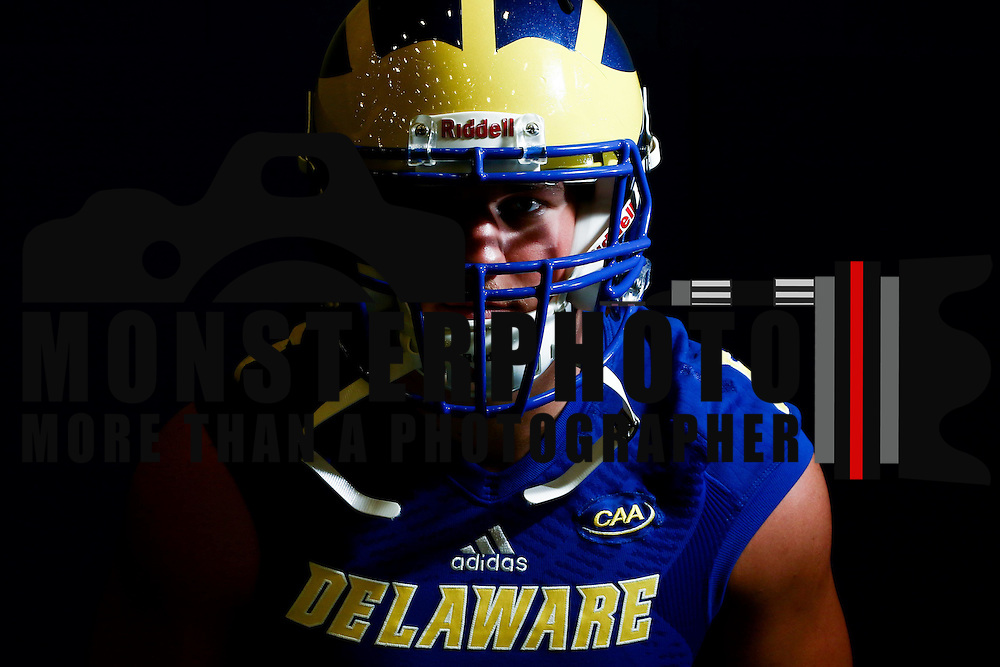 Photo of Delaware Linebacker Charles Bell (5) taken Sunday, August 14, 2016, at Delaware Field House Facility on the campus of the university of Delaware in Newark.