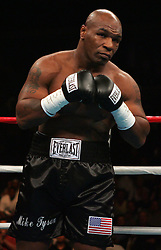 Mike Tyson before his fight against Kevin McBride at the MCI Center in Washington, DC.  McBride won the fight when Tyson failed to answer the bell for the 7th round.