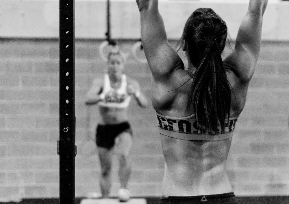 Camille Leblanc-Bazinet Pullup at CrossFit Reebok Ramsay's Grand Opening WOD