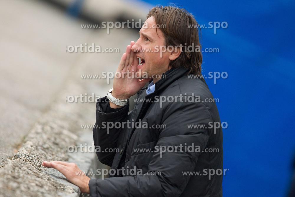 Coach of Koper Primoz Gliha during the football match between NK Triglav Gorenjska and NK Luka Koper, played in the 11th Round of Prva liga football league 2010 - 2011, on October 3, 2010, Mestni stadion, Kranj, Slovenia. (Photo by Vid Ponikvar / Sportida)