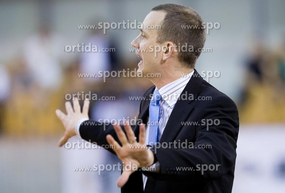 Gasper Potocnik, head coach of Krka during basketball match between KK Union Olimpija and KK Krka in 10th Round of Telemach League 2012/2013, on April 30, 2013, in Hala Tivoli, Ljubljana, Slovenia. (Photo By Vid Ponikvar / Sportida.com)