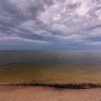An overcast winter day on the beach at East Cape Sable on Florida Bay at the southern end of Everglades National Park. WATERMARKS WILL NOT APPEAR ON PRINTS OR LICENSED IMAGES.