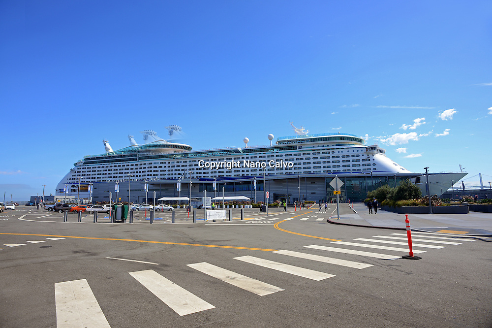 Royal Caribbean cruise ship in San Francisco port, California.