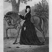 """Sarah Emma Edmonds (1841 - 1898), a Canadian-born woman who is known for serving with the Union Army during the American Civil War as both a nurse and a spy (first disguised as a man, """"Frank Thompson""""). Her account of various Civil War exploits was published in 1865 """"Nurse and Spy in the Union Army"""". Vintage Illustration: Civil War"""