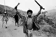 Independence supporters prepare for an expected pro-Jakarta Milita Attack near Hera. Dili East Timor September 1999.