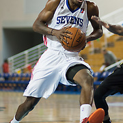 Delaware 87ers Forward Thanasis Antetokounmpo (19) drives towards the basket in the first half of a NBA D-league regular season basketball game between the Delaware 87ers (76ers) and the Erie BayHawks (Knicks) Monday, Jan 13, 2014 at The Bob Carpenter Sports Convocation Center, Newark, DE