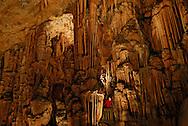France, Languedoc Roussillon, Hérault, Saint Bauzille de Putois, la grotte des Demoiselles, le mur aux mille colonnes, le balcon des abîmes