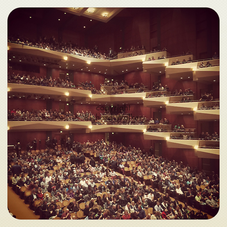2015 January 30 - Interior of Benaroya Hall, Seattle, WA, USA. Taken/edited with Instagram App for iPhone. By Richard Walker