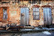 Weathered building in Playas del Este, Havana, Cuba.