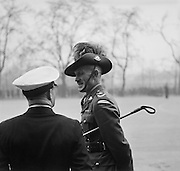 Australian Soldier Talks to Naval Man at Wellington Barracks, London, England, 1937