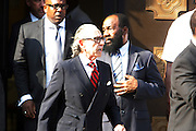 New York, NY- July 23: Attorney Sanford Rubenstein attends the funeral of Eric Garner, who fell victim to the tactics of the NYPD after NYPD Officers rendered him in chokehold on July 20, 2014 in Staten Island. His funeral was held on July 23, 2014 at Bethel Baptist Church in New York City.  (Terrence Jennings)