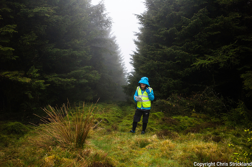 Glentress, Peebles, Scotland, UK. 31st May 2015. The Enduro World Series Round 3 taking place on the iconic 7Stanes trails during Tweedlove Festival. Severe weather conditions provided organisers with extra challenges on day two.