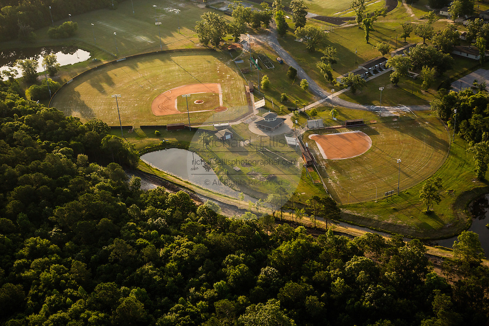 Aerial view of baseball fields in Mt Pleasant, SC