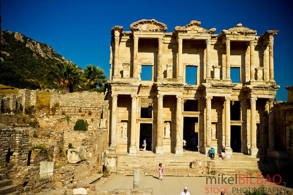 Library of Celsus, Ruins of Ephesus.<br /> Izmir province. Anatolia, Turkey