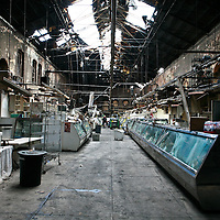 The ruins of the interior of the Eastern Market.