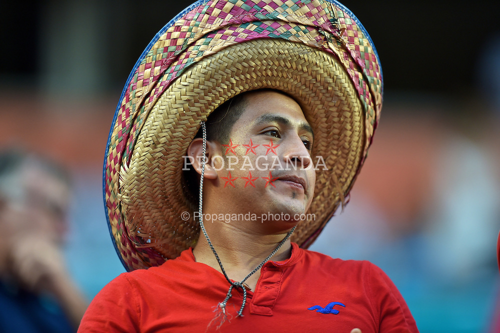 MIAMI, USA - Monday, August 4, 2014: A supporter before the International Champions Cup Final match at the SunLife Stadium on day fifteen of the club's USA Tour. (Pic by David Rawcliffe/Propaganda)