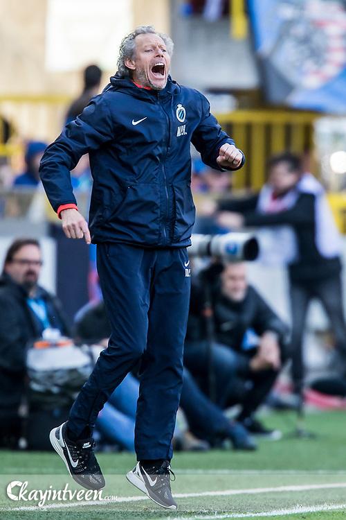 BRUGGE - Club Brugge - Zulte Waregem , Voetbal , Seizoen 2016/2017 , Jupiler Pro League Belgie Play-off 1 , Jan Breydel Stadion , 01-05-2017 , Enthousiaste Michel Preud Homme