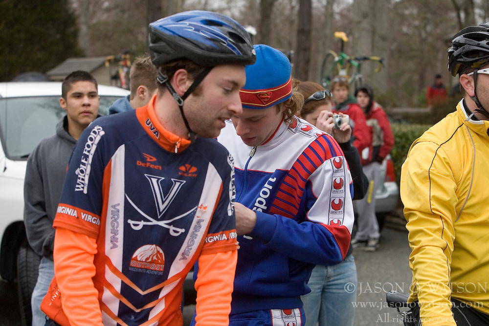 Virginia Cavaliers David Morris and Luke Wademann.<br /> <br /> The College of William and Mary road race was held near Williamsburg, VA on February 25, 2007.