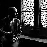 Portrait of Donald Hunt, organist at St. Mary's Cathedral in Edinburgh.