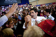 Republican vice presidential candidate Rep. Paul Ryan greets supporters at a campaign rally in Fredericksburg, Virginia October 16, 2012.