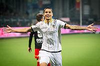 ROTTERDAM - Excelsior - Vitesse , Voetbal , Eredivisie , Seizoen 2015/2016 , Stadion Woudestein , 31-10-2015 , Vitesse speler Kevin Diks scoort de 0-2