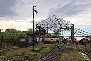 Train yard in Rafael Freyre, Holguin, Cuba.
