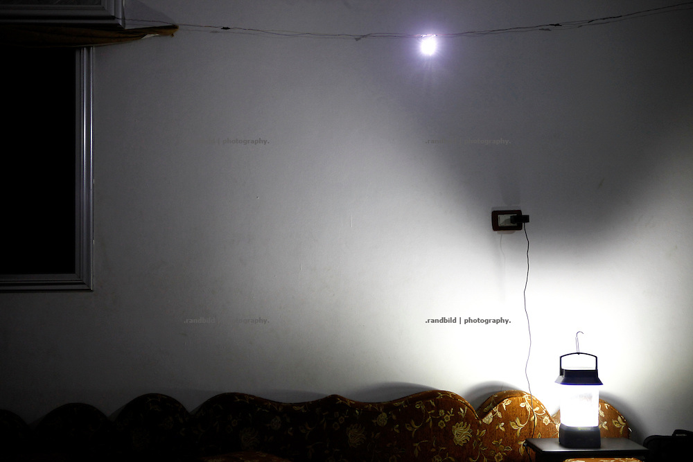 Battery and solar charged LED panels became a regular lightning system in Koreen as regular blackouts must be bridged.<br />