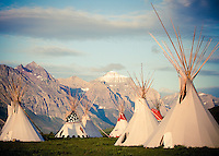 blackfeet tipi's saint marys lake glacier national park