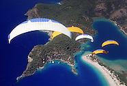 Paragliding over the Blue Lagoon of Olu Deniz, Turkey