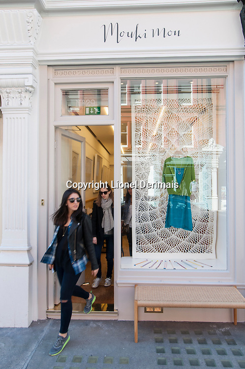 Mouki Mou shop, 29 Chiltern Street, Marylebone, London. Created by Maria Lemos.