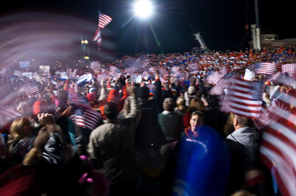 Mitt Romney rally in West Chester outside Cincinnati