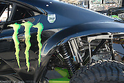 This twin-turbo Monster Energy buggy was sporting memorial stickers for #312 Casey Johnson
