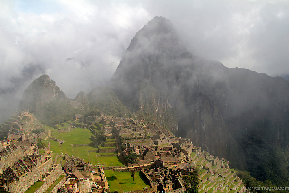 South America, Peru, Machu Picchu. Magical view of Machu Picchu, a UNESCO World Heritage Site.