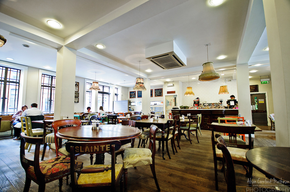 Interior of the Avoca Cafe in Dublin.