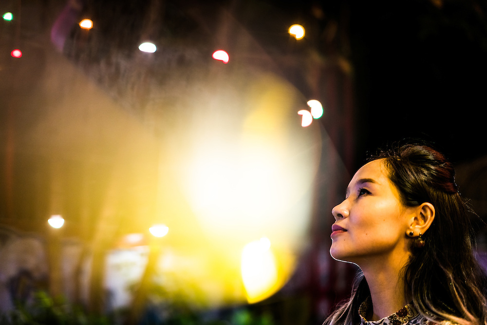 HO CHI MINH CITY, VIETNAM – MARCH 18,2016: Do Nguyen Mai Khoi, 32, a Vietnamese musician and self-nominating candidate for the National Assembly, in portrait in before she plays a show at Saigon Outcast. Markedly different in both appearance and ideas than previous candidates, she hopes her run will bring greater knowledge and increased political participation to the youth of Vietnam.