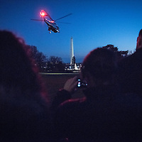 U.S. President Barack Obama, and the family depart aboard Marine One from the South Lawn of the White House as the family heads to San Bernardino, CA., before heading to Hawaii for vacation Dec 18, 2015. Photo Ken Cedeno