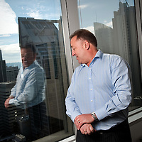Tom Southern, Managing Director of CB Richard Ellis in his offices inSydney, Australia.