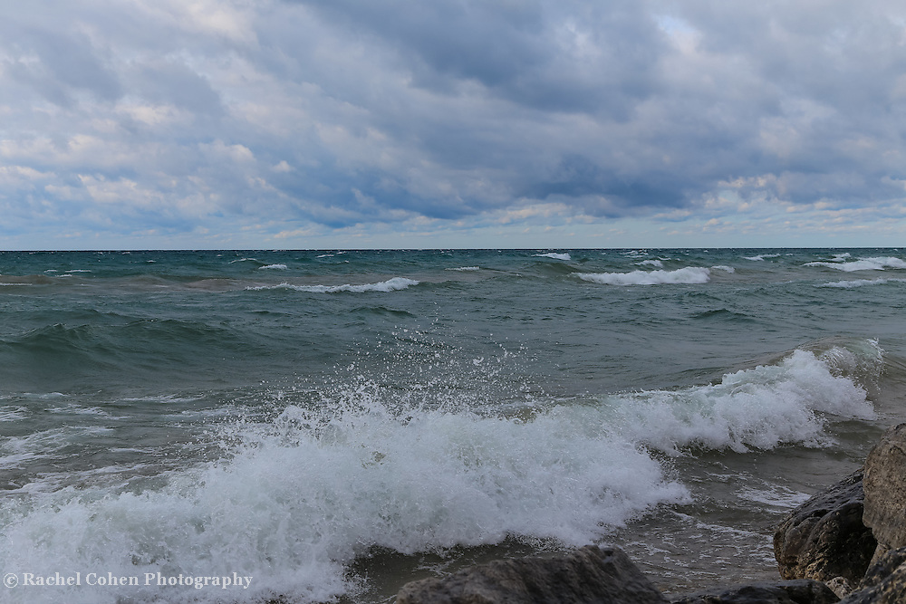 &quot;Layers Within the Surf&quot;<br /> <br /> Beautiful Lake Michigan on a stormy day as the waves roll in!