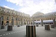 Paris museum with black and white columns