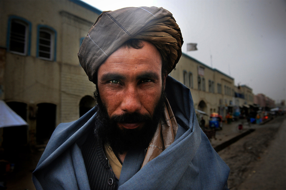 Portrait of a Taliban man in Kandahar, Afghanistan.