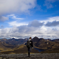Italo gazes out over the mountains and lakes of Cajas National Park in southern Ecuador.