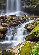 USA, West Virginia, Pocahontas County. The second of three waterfalls known as the Falls of Hills Creek.