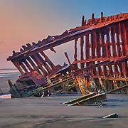Scott Mathews And The Peter Iredale Shipwreck - Dusk - Oregon Coast - HDR