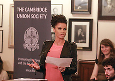 MAR 07 2013 Katie Price speaking at the Cambridge Union Society