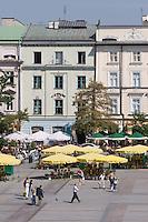 Flower Market on the Market Square in Krakow Poland