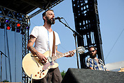Lucero performing at LouFest in St. Louis on August 28, 2010.