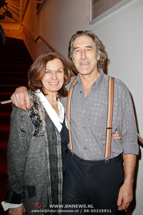 NLD/Amsterdam/20120306 - Premiere toneelstuk Napoleon op Sint-Helena, Liz Snoijink en partner Nicolaas Oldenburg