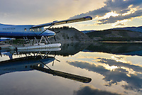 Early morning sunrise and Turbo Otter reflections at Schwatka Lake, Yukon